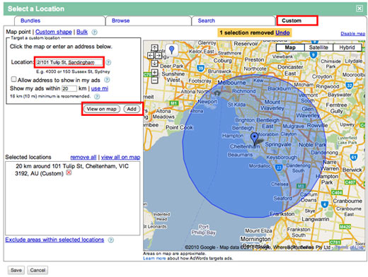 Location Targeting in Google AdWords