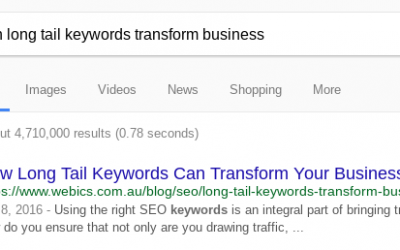 Ranking for Long Tail Keywords
