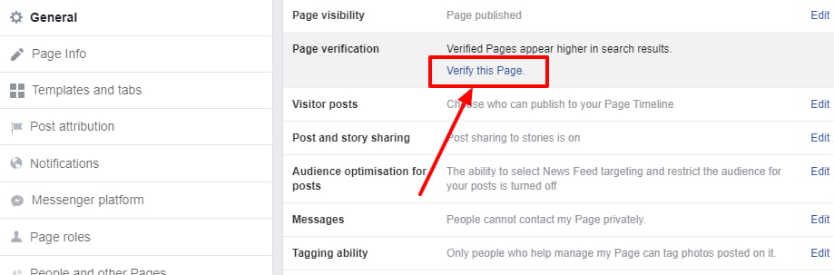 How To Verify Your Facebook Page 2019