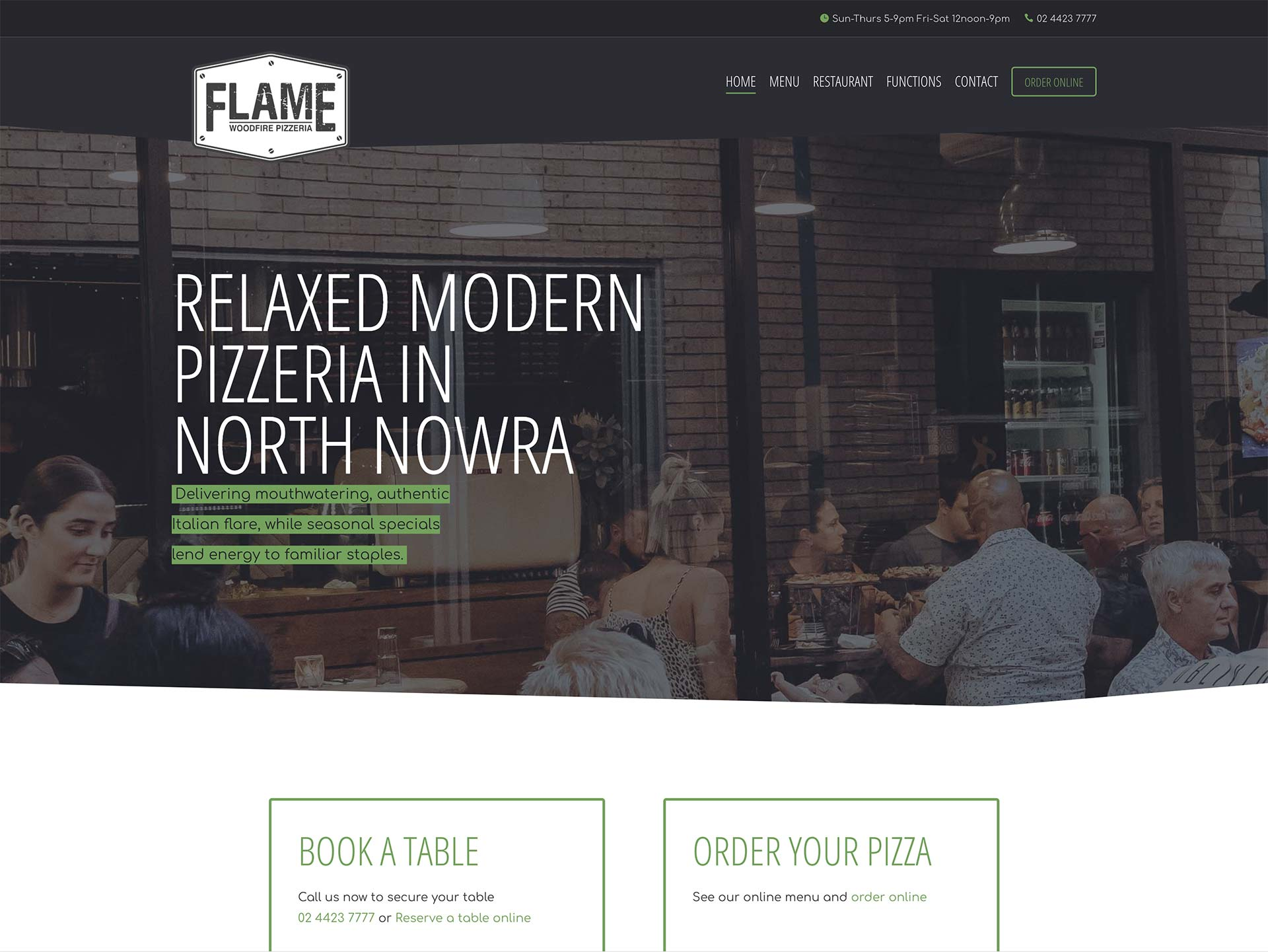 Flame Woodfired Pizzeria