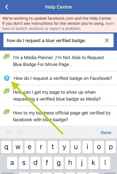 Verify Facebook Page 2020